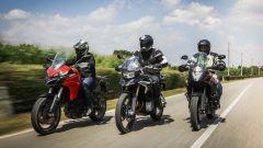 KTM 1090 Adventure, BMW F 850 GS e Ducati Multistrada 950 a confronto su strada