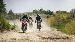 KTM 1090 Adventure, BMW F 850 GS e Ducati Multistrada 950: in cava per le prove di offroad