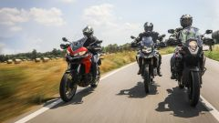 KTM 1090 Adventure, BMW F 850 GS e Ducati Multistrada 950: un momento della comparativa
