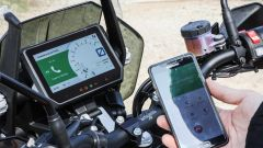 KTM 1290 Super Adventure-S: grazie al sistema my Ride le chiamate in entrata sul cellulare compaiono sulla strumentazione