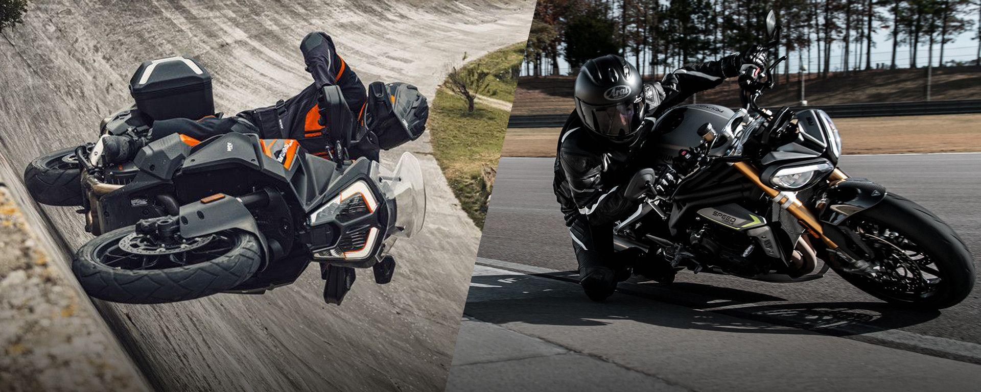 KTM 1290 Super Adventure e Triumph Speed Triple RS: 2021 alla riscossa