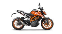 KTM 390 Duke: vista laterale