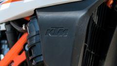 KTM 690 SMC R 2019: dettaglio del copri radiatore