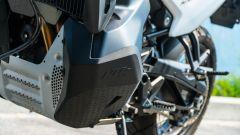 KTM 790 Adventure: la protezione motore in alluminio