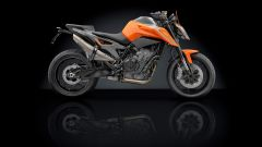 KTM 790 Duke accessoriata Rizoma: vista laterale