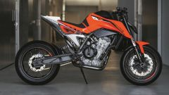 KTM 790 Duke Prototype: vista laterale