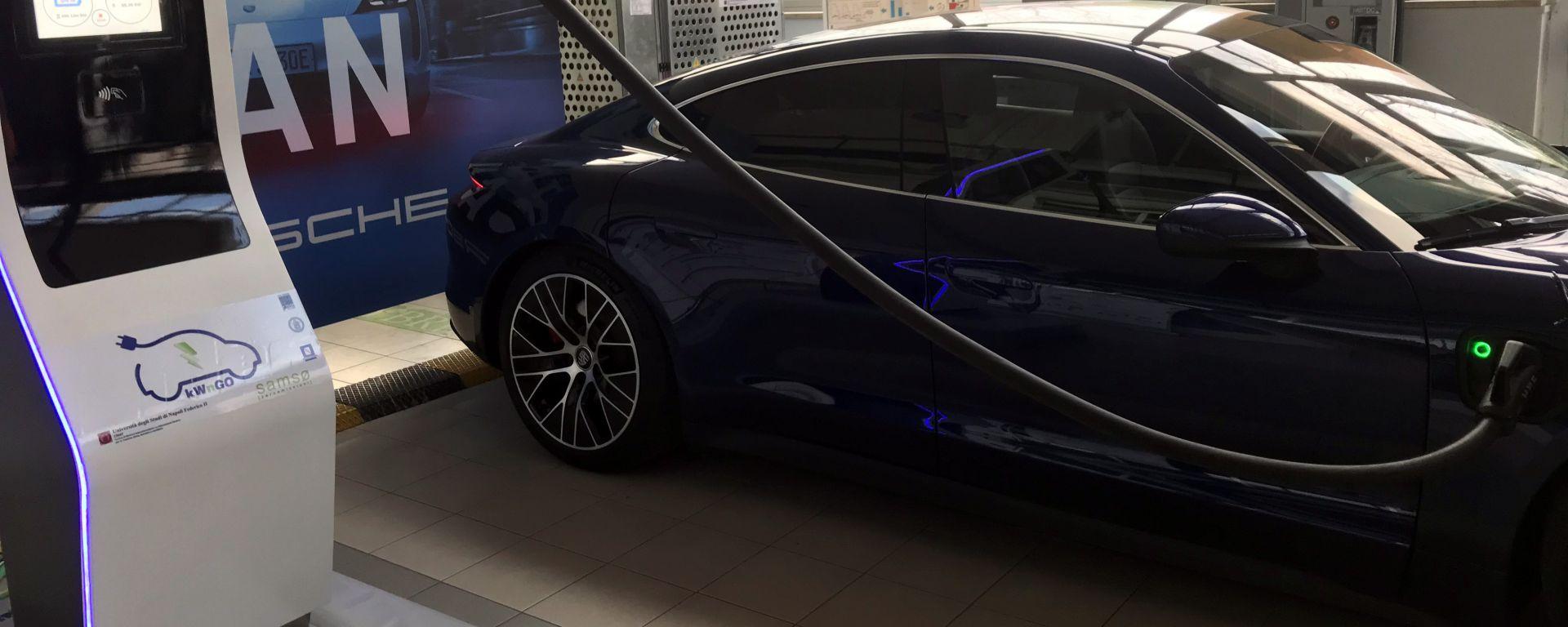 kWngo: il test di ricarica di Porsche Taycan S