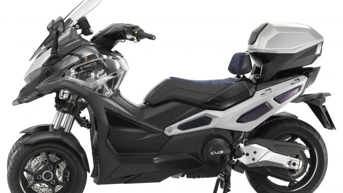 Kymco CV3: visuale laterale