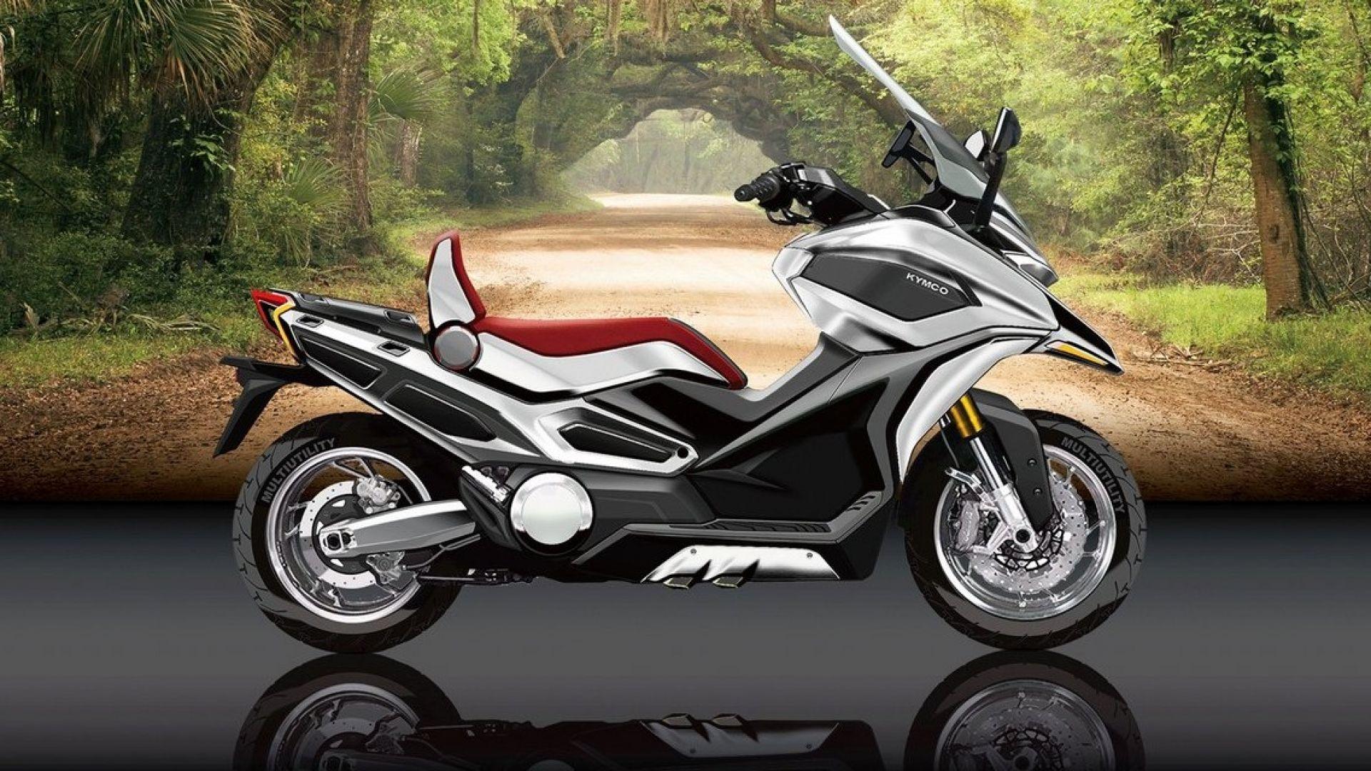 kymco serie c concept il nuovo scooter adv sar al salone di milano motorbox. Black Bedroom Furniture Sets. Home Design Ideas