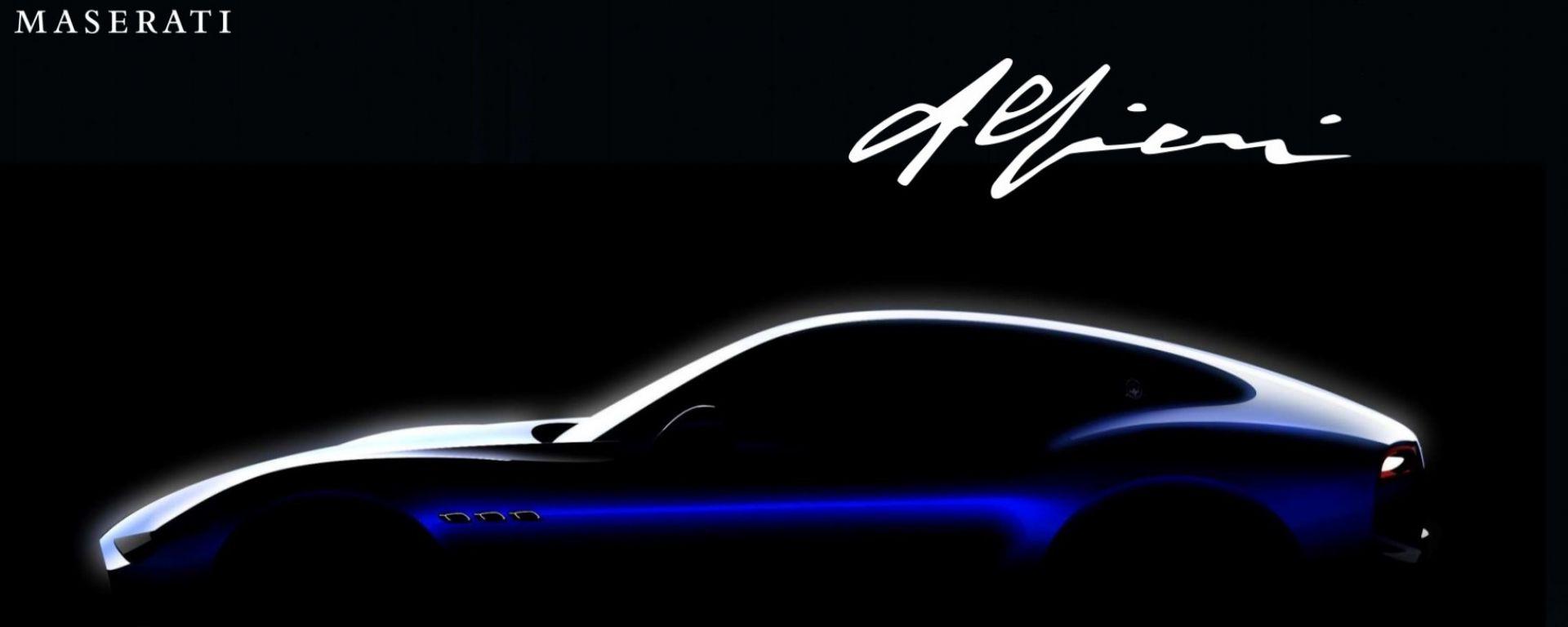 La Alfieri sarà il primo modelli ibrido e elettrico di Maserati