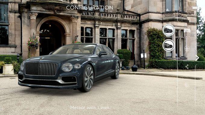 La Bentley Flying Spur 2020 in realtà aumentata