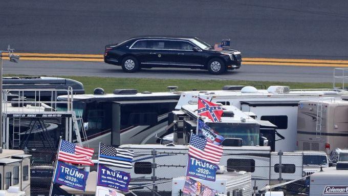 La ''Bestia'' in pista a Daytona