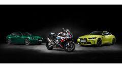 La BMW M 1000 RR con le nuove M4 Competition e M3 Competition