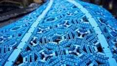 La Bugatti Chiron di Lego: dettaglio della carrozzeria