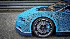 La Bugatti Chiron di Lego: dettaglio della ruota