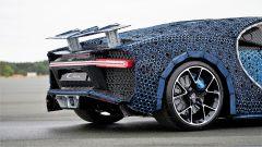 La Bugatti Chiron di Lego: dettaglio dell'alettone