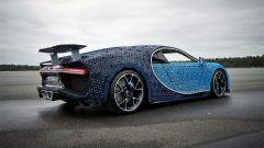 La Bugatti Chiron di Lego: l'alettone cambia angolazione