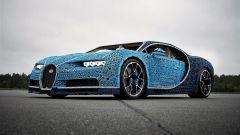 La Bugatti Chiron di Lego: vista 3/4 anteriore