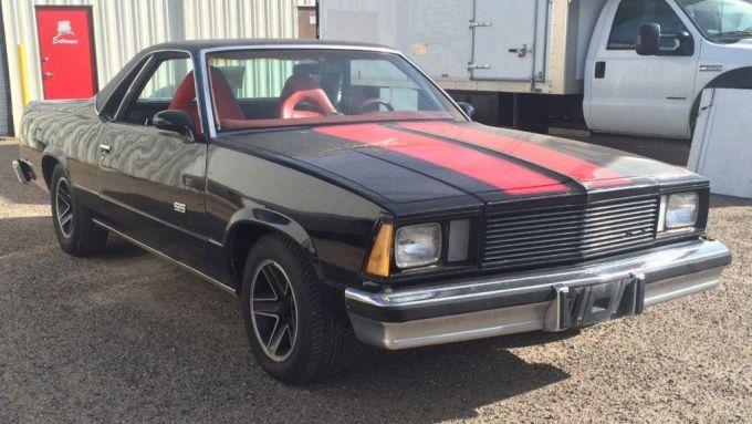 La Chevrolet El Camino del 1978 sul set del film