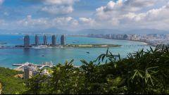 La città cinese di Sanya, la seconda più popolosa dell'isola di Hainan