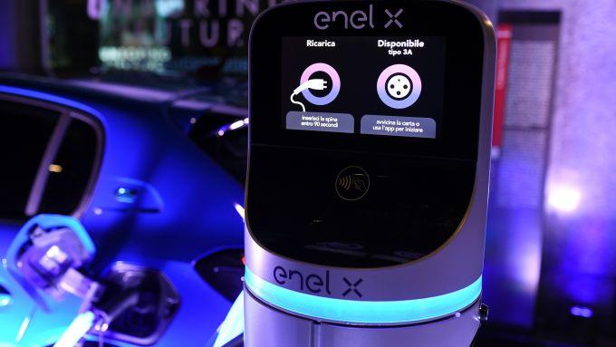 La colonnina di ricarica di Enel X