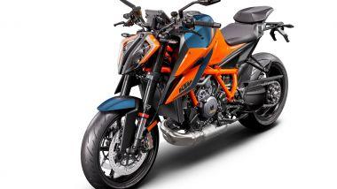 La colorazione arancio blu della nuova hyper naked di KTM