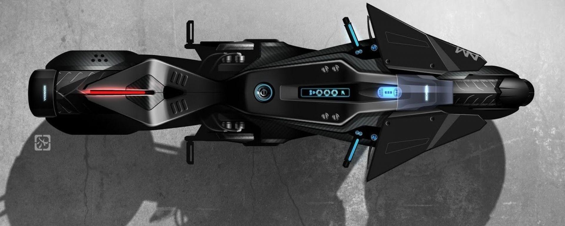 La concept Honda per Ghost in the shell vista dall'alto