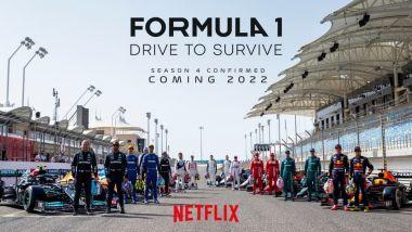 La copertina della quarta stagione di Drive To Survive (Netflix)