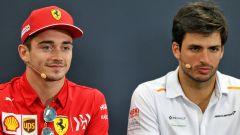 La coppia piloti 2021 Ferrari: Charles Leclerc e Carlos Sainz