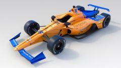 La Dallara-Chevrolet del Team McLaren con cui Alonso prenderà parte alla Indy 500 2019