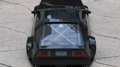 La DeLorean attualizzata, vista dall'alto