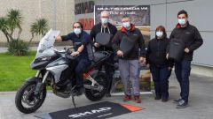 La Ducati Multistrada V4 presso lo stabilimento SHAD di Barcellona