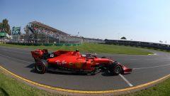 La Ferrari a Melbourne con il logo sostitutivo