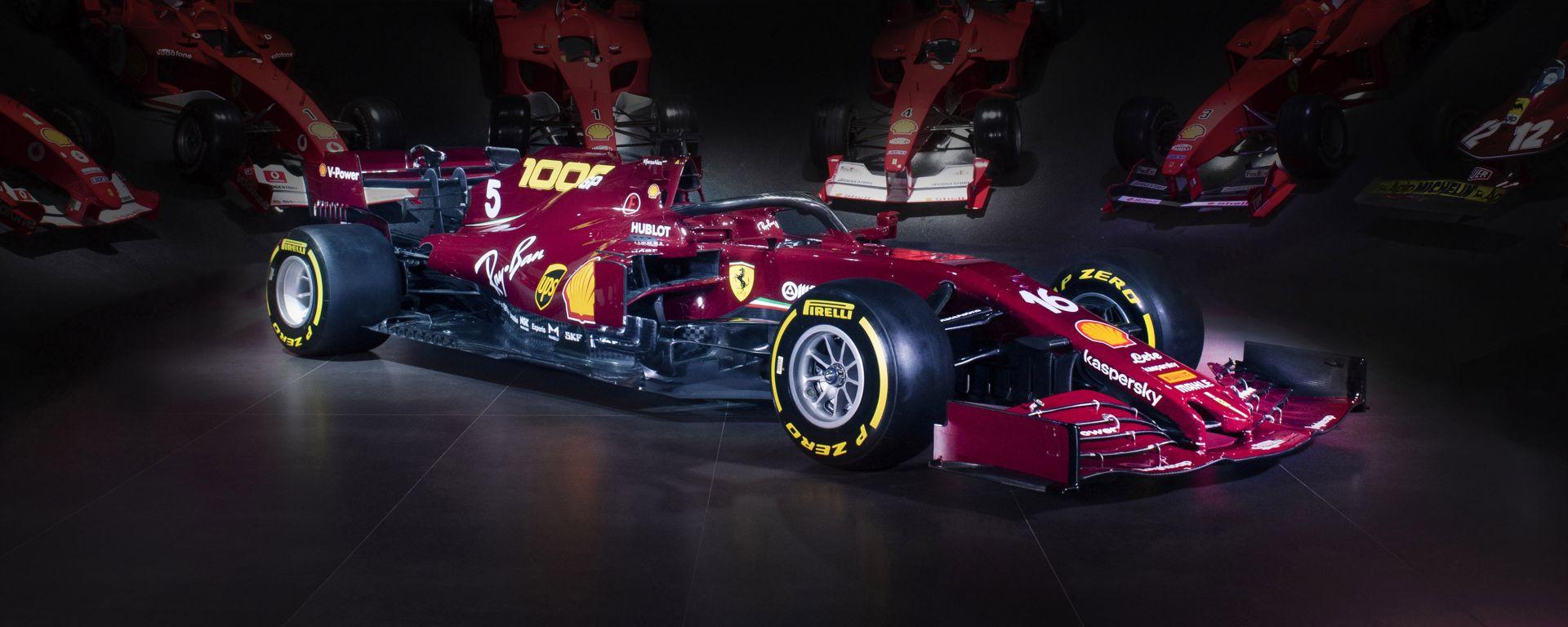 La Ferrari con la livrea del 1000° GP