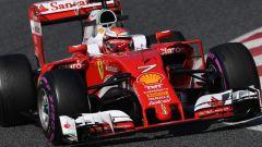 La Ferrari di Kimi Raikkonen con le mescole Ultra soft