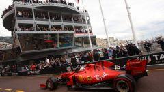 La Ferrari di Leclerc a Monte Carlo con il logo Mission Winnow