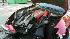La Ferrari di Marchetti, il frontale distrutto della 812 Superfast