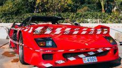La Ferrari F40 bruciata a Monaco vista nella sua interezza