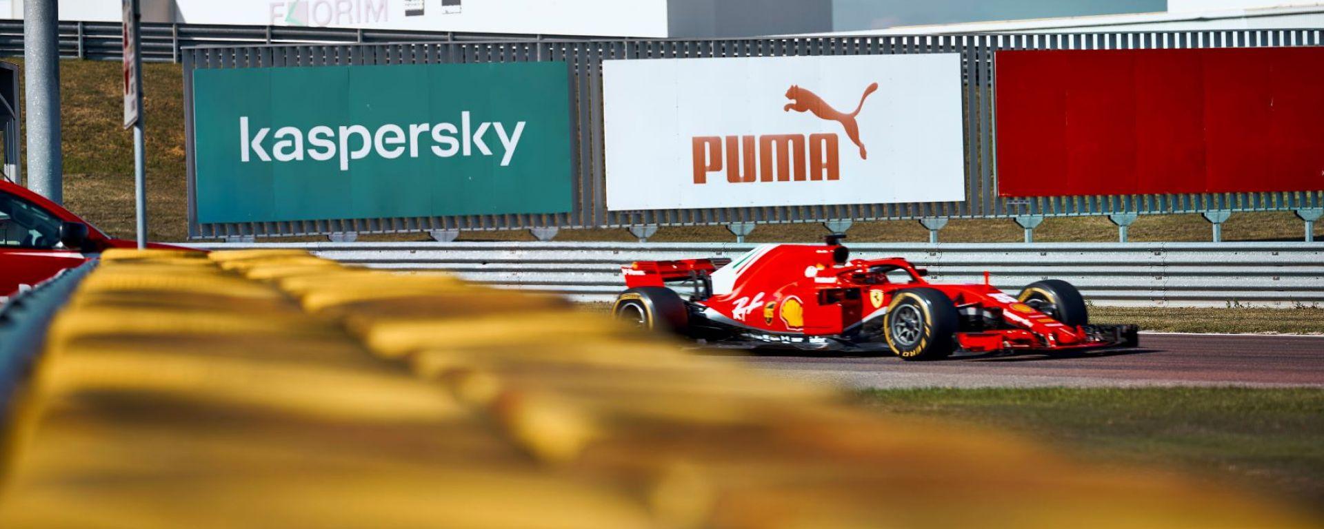La Ferrari in azione con Robert Shwartzman a Fiorano nel 2020