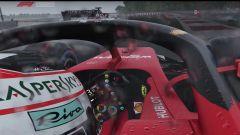 La Ferrari SF90 di Charles Leclerc sul bagnato del Paul Ricard