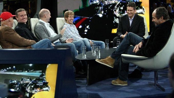 La festa del titolo Red Bull nel 2010 negli studi di Servus TV