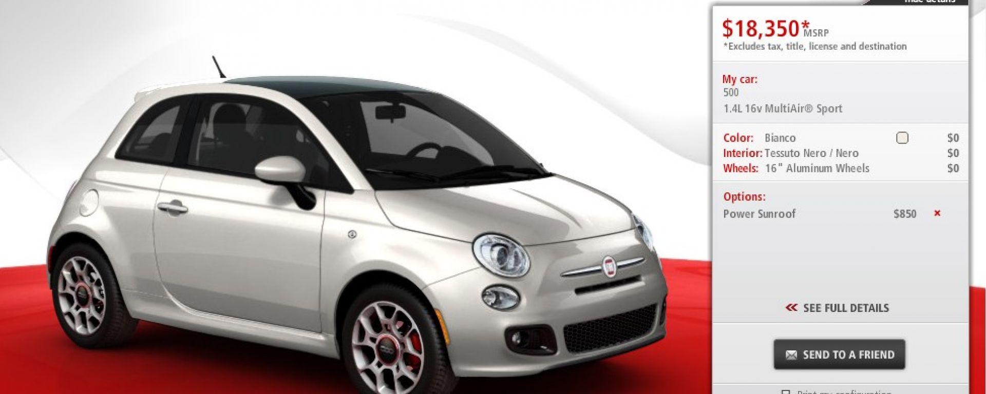 La Fiat 500 americana in dettaglio