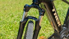La forcella Suntour NRX della Trek Dual Sport+