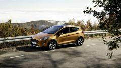 La Ford Fiesta Active è larga 176 cm, alta 150 e lunga 407 cm