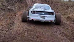 La Ford Mustang vista dal retro