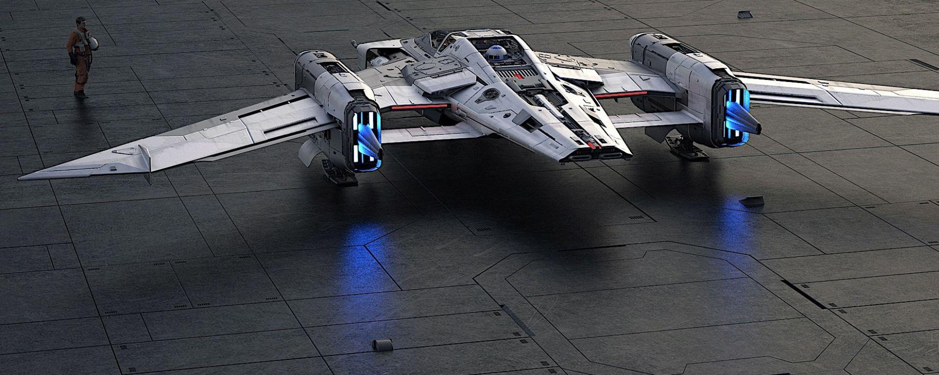 La fotogallery dell'astronave dei ribelli di Star Wars by Porsche