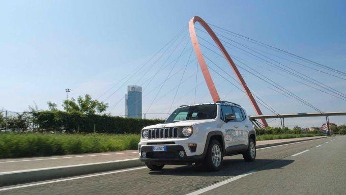La Jeep Renegade 4xe del progetto Geofencing Lab