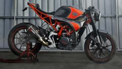La KTM RC 250 Café Racer by Minority Custom Motorcycles vista di lato