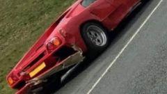 La Lamborghini Diablo incidentata