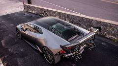 La Lamborghini Huracan di European Auto Group, vista 3/4 posteriore